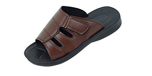 New Mens Fisherman Open Toe Slide Sandals Brown lIzWGXIHK