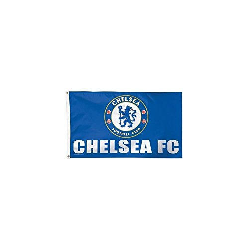 Chelsea FC WinCraft Sports Blue White Deluxe Indoor Outdoor Flag (3' x 5') ()