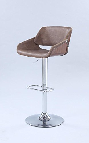 Milan RYLIE-AS-BRW Rylie Bent Wood Saddle Seat with Pneumatic Adjustable Stool