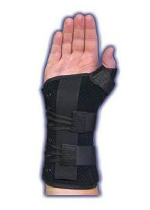 Med Spec Ryno Lacer Wrist & Thumb Support, Black Medium Left