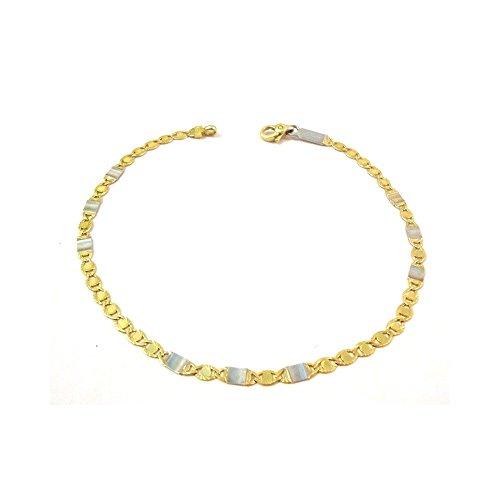 Jaune de IN BRACELET UNISEXE et or blanc 18 KT - Oro giallo 18 kt