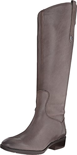 Calf Large Leather (Sam Edelman Women's Penny Riding Boot, Grey Frost, 6 M US)