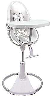 Bloom Fresco Chrome Contemporary High Chair Frame Only (White)