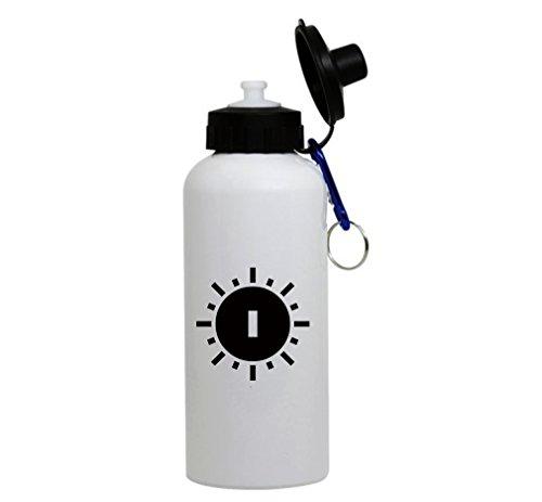 I Swirl Initial Monogram Personalized Letter I White Aluminum Water (Swirl Monogram)