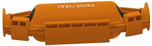 Twist and Seal TSCP-1000-OR-BL Medium Plastic Electrical Cord Protector44; Orange - Pack of 2 (Bl Twist)