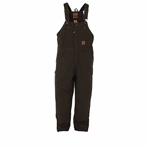 (Berne Toddler Washed Insulated Bib Overall Olive Duck Regular - 2T)