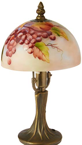 Cosmos CB48468 Glass Shade Grape Design Lamp, 9-1/2-Inch ()