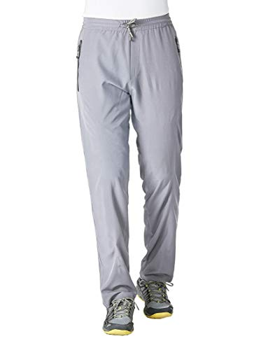 Rdruko Men's Sweatpants with Zipper Pockets Open Bottom Athletic Pants for Jogging, Workout, Gym, Running, Training(Light Grey, US - Training Pants Athletic