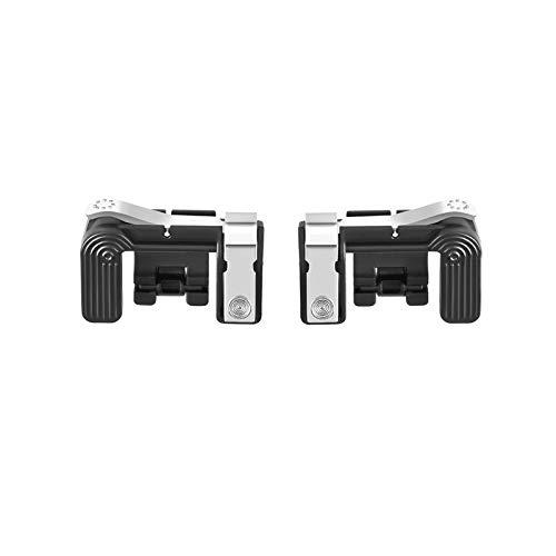 Leoie Mobile Phone Metal Gaming Trigger Fire Button Handle L1R1 Shoot Controller PUBG black