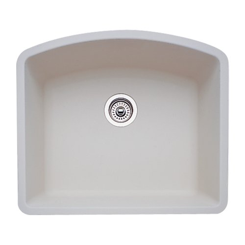 - Blanco 511-710 Diamond 24-Inch-by-20-13/16-Inch Single Bowl Kitchen Sink, Biscuit Finish