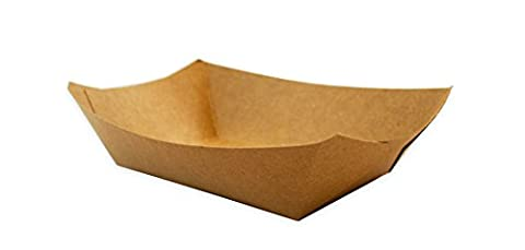 CucinaPrime Brown Paper Food Trays, 2 lb, 250 Count (Paper Food Trays 2lb)