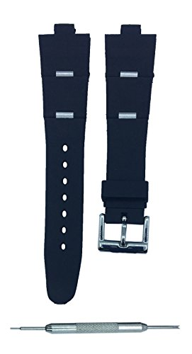 8X21mm Women Black Watch Band Replacement Strap For BVLG Diagono | Gift - Bvlgari Strap Replacements Watch