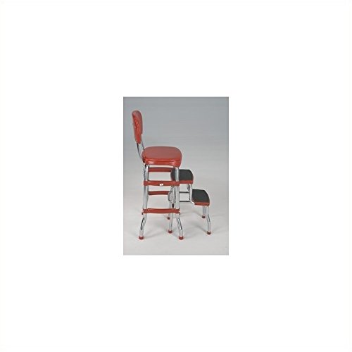 Brand New Cosco Retro Counter Chair Step Stool Red