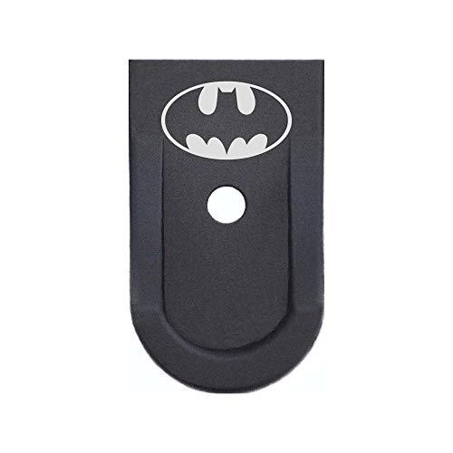 BASTION Laser Engraved Aluminum Finger Extension Grip Magazine Base Plate for Ruger LC9/LC9s - Batman