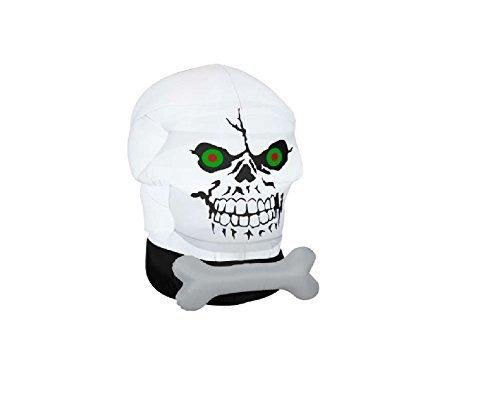 Gemmy Airblown-Gotham Skull-OPP by Gemmy