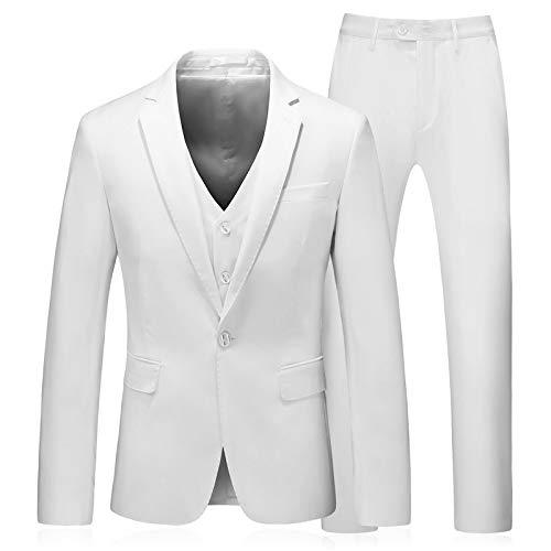 Professionnels Unie Hommes Zpfxed Trois Affaires Pour Décontracté Costumes Les Vêtements White Pièces Couleur BRwxCaq6p
