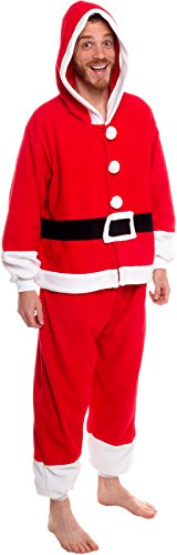Silver Lilly Unisex Pajamas - One Piece Cosplay Holiday Santa Claus Costume, -
