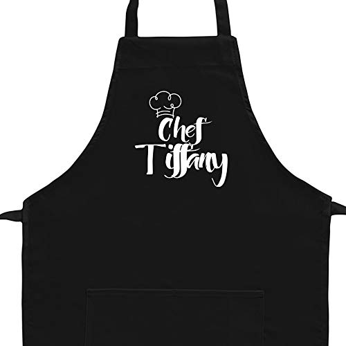 Eddany Apron Chef Tiffany Vintage Embroidery Custom Aprons Adult or Kid