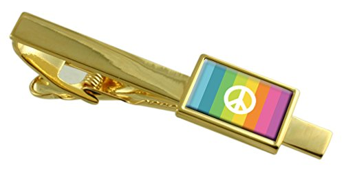 CND Flag Gold-tone Tie Clip Engraved Message (Cnd Crystal)