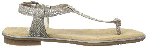 Rieker 64270 Women Flip Flop - Sandalias de dedo Mujer Beige - Beige (fango-silver/beige / 64)