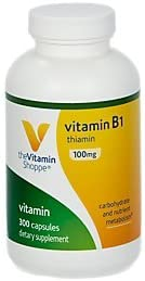 B1 Thiamin 100MG 300 Capsules by The Vitamin Shoppe
