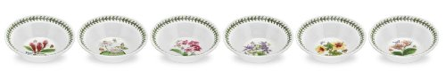 PORTMEIRION EXOTIC BOTANIC GARDEN Oatmeal bowls set of 6 assorted motifs