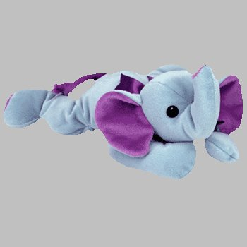 TY Pillow Pal - SQUIRT the Elephant (Two Tone Blues - Two Elephant Tone