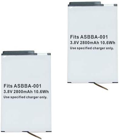 【2個セット】Gopro(ゴープロ) Fusion 対応 ASBBA-001 互換 バッテリー 容量:2800mAh