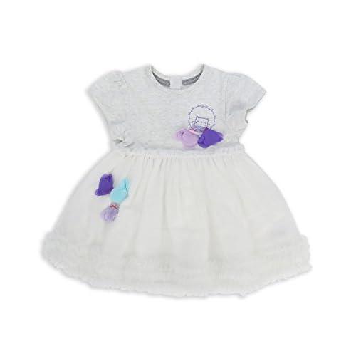 e249174f574f6 The Essential One - Bébé Enfant Fille Robe - Blanc Gris - EOT305 ...