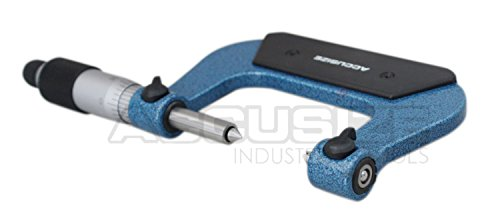 """#S916-C751 1-2/"""" x 0.0001/"""" Screw Thread Micrometer with 5 Anvil in Fitted Box"""