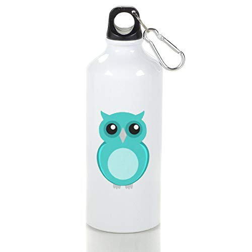 Wenlitee Blue Owl Aluminum Outdoor Sports Bottle Mountaineering Kettle White M