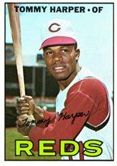 1967 Topps Regular (Baseball) Card# 392 tommy harper of the Cincinnati Reds VGX Condition ()