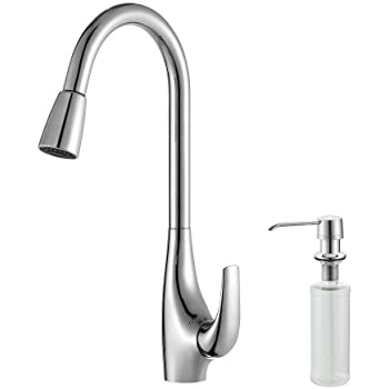 Kraus Nola Single Lever Pull Down Kitchen Faucet And Soap Dispenser