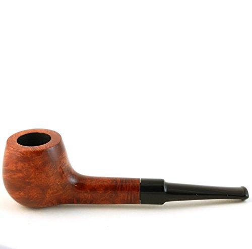 Mr. Brog Pot Tobacco Pipe - Model No: 64 Albert Pecan - Mediterranean Briar Wood - Hand Made