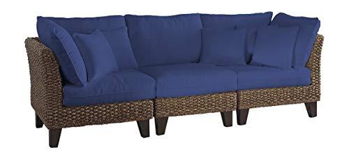Panama Jack Sunrooms 3 PCPJS-1001-S Sanibel Sofa with Cushions, Sunbrella Canvas Navy