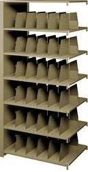 Tennsco 247648AC Imperial Open Shelf Filing Unit, Double Entry Add-On, 7 Shelves / 6 Openings, 48