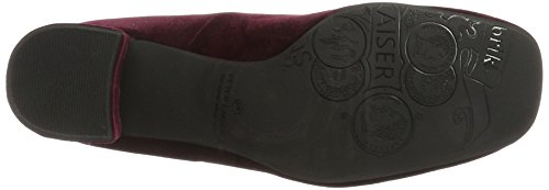 Kaiser Cabernet Peter Nappa Women's Carrih Velvo Schwarz Toe 759 Red Heels Closed 4BTdwq