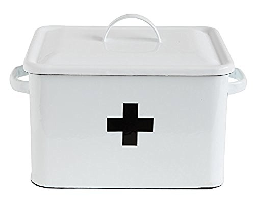 Creative Co-op Enameled First Aid Box w (Enameled Box)