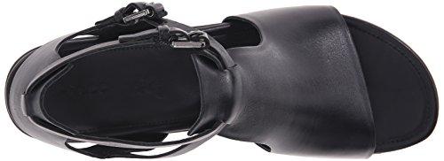 Ecco TOUCH 25 S Damen T-Spangen Sandalen Schwarz (Black 1001)