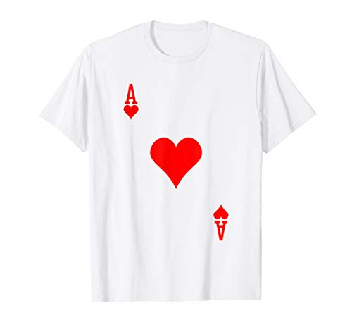 Ace of Hearts Costume Tshirt Halloween Deck of -