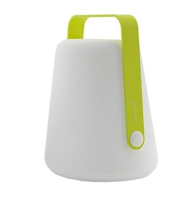 RECHARGEABLE LED LANTERN GREEN by Balad h 25 cm -10'' (Image #4)