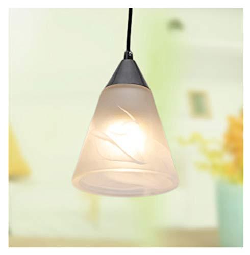 Hyvaluable Restaurant créatif Café 1 Lustre Salle de séjour pour Enfants Salon Etude Chambre Lampe Suspendue Chrome E14 Lampe Suspension
