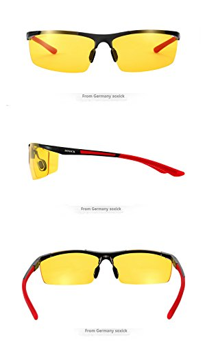 Night Driving Glasses for Man Women Anti Glare Improve Driving Safety HD Night Vision Glasses for Driving Red