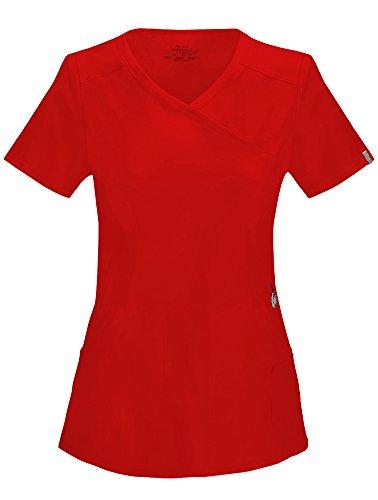 Cherokee Infinity Mock Wrap Top (Red, XX-Large)