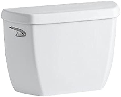 White KOHLER 5307-0 Wellworth Classic 1.0 GPF Toilet Tank with Left-Hand Trip Lever