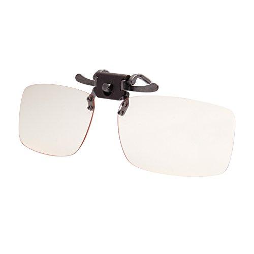 LIANSAN Computer Glasses Clip On Sunglasses Myopic Lens Blue light Blocking Gaming Eyeglasses Anti Glare Eye Strain Readers LS6260G Yellow