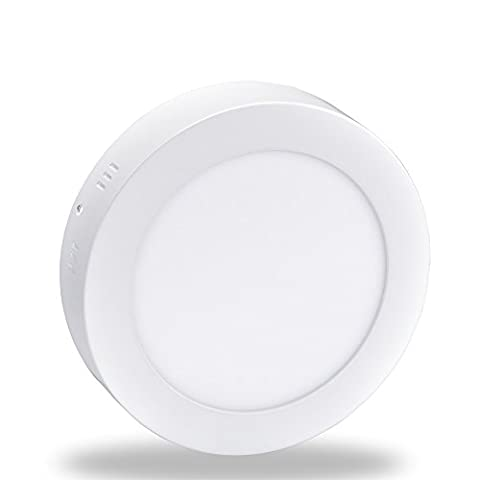 24W LED Super Bright Panel Wall Ceiling Down Lights, Panel Lamp Mount Surface, Round, White/6000K, Input 86-265V, Lighting for Office/Hotel/Kitchen/Bed room/Bathroom, Aluminum [Energy Class A+]