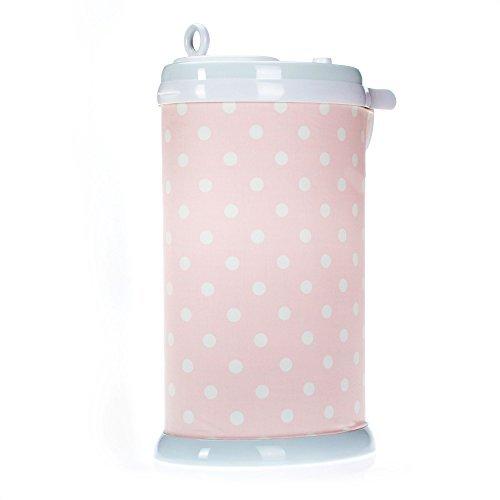 Charlotte Pink Polka Dot Diaper Pail Cover by Glenna Jean