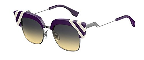 New Fendi WAVES FF 0241/S B3V/GA violet white/grey yellow shaded Sunglasses