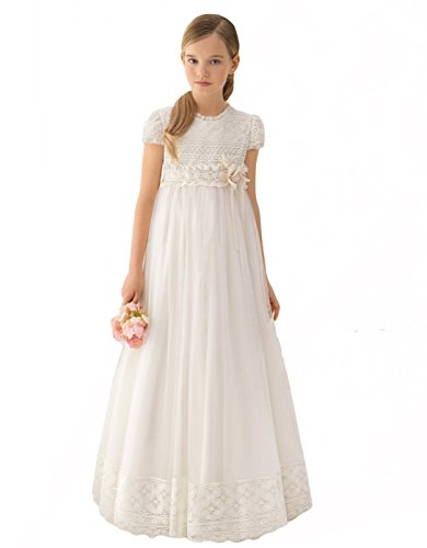PROMNOVAS Girl's Full Length Lace First Communion Dresses